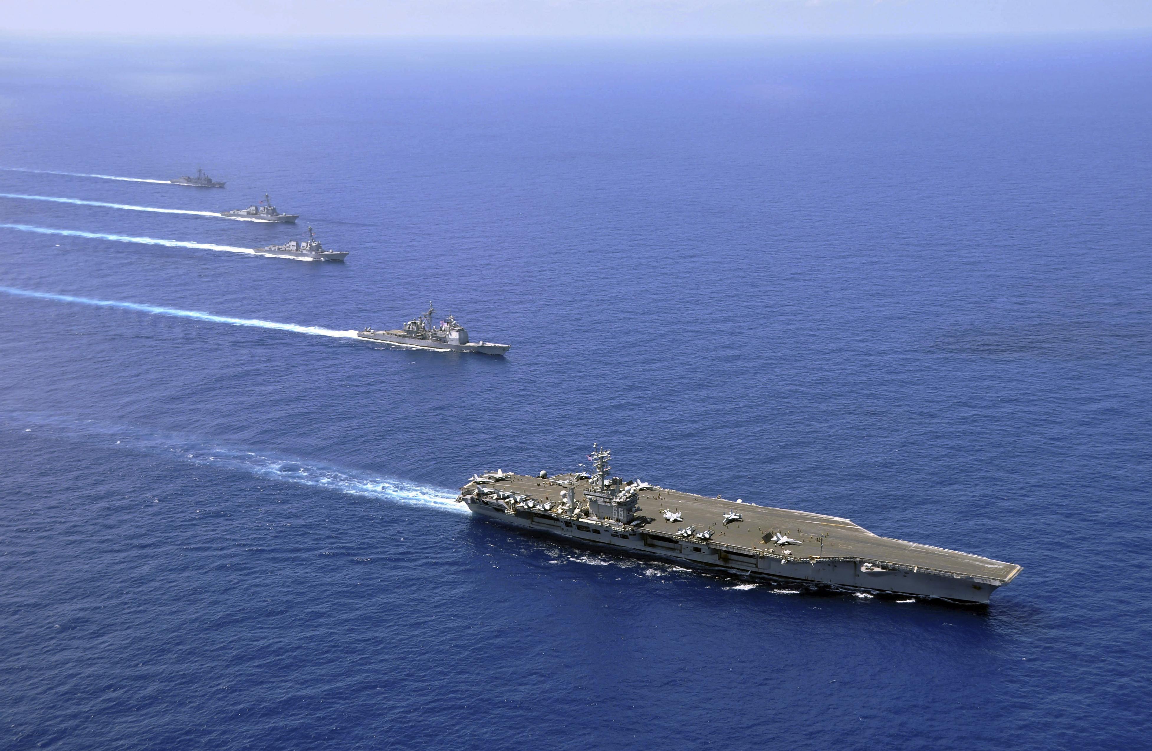 Naval Ships Sailing