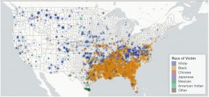 Map of the Extent of Lynchings