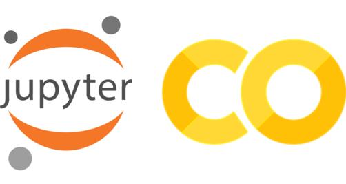 Jupyter and Colab logos