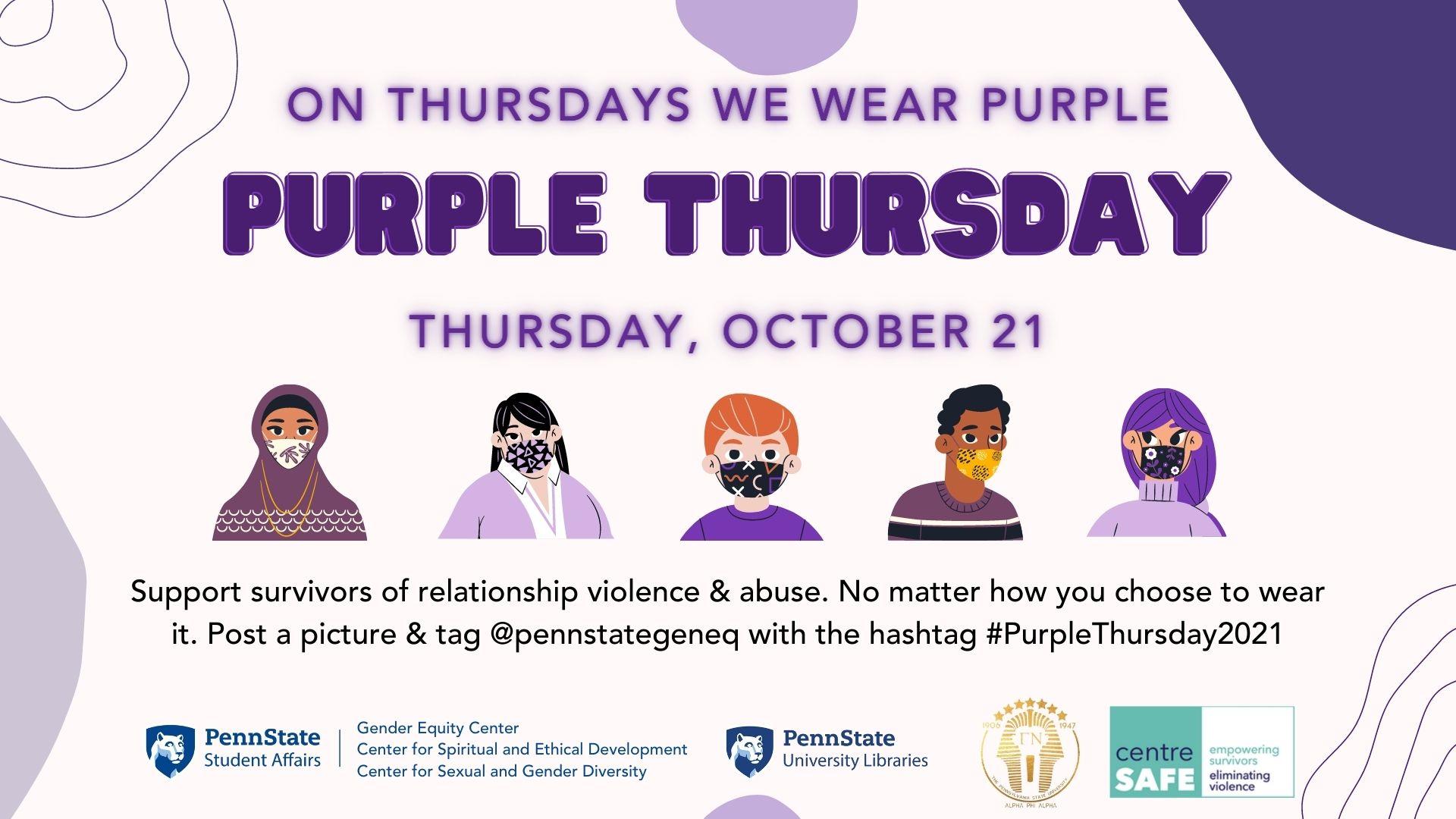 flyer for wear purple day